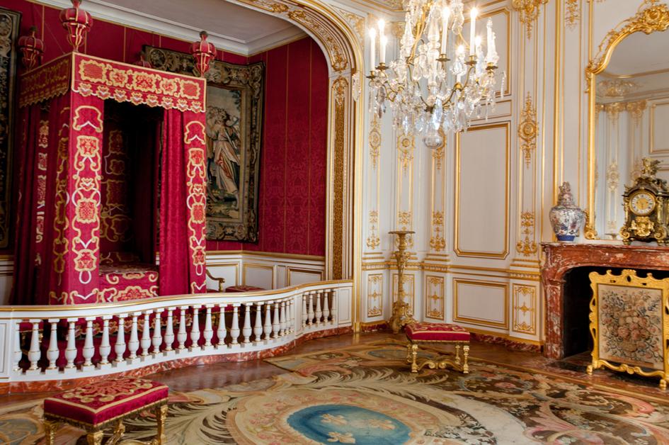 Chambre de l'appartement de parade du Maréchal de Saxe (détail)