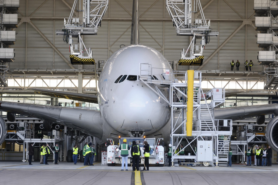 Nouvel hangar A380 d'Air France à Paris-Charles de Gaulle