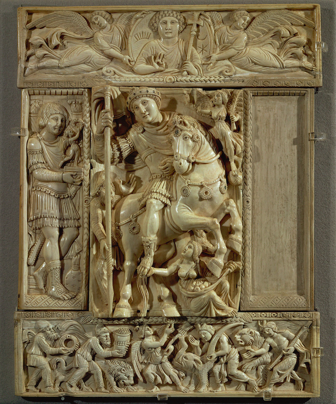 Barberini Diptych,showing the triumph of an