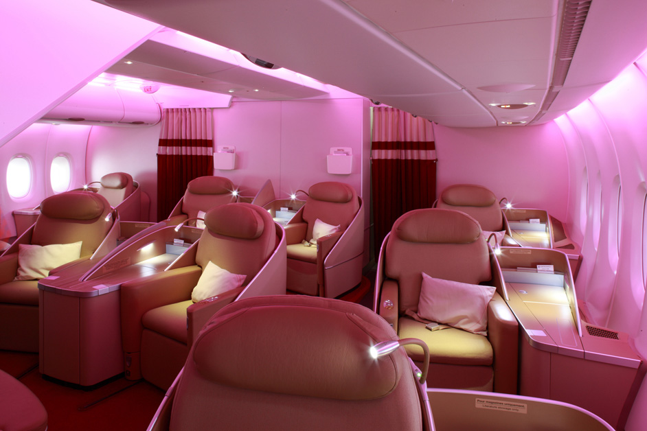 Cabine de première classe de l'A380