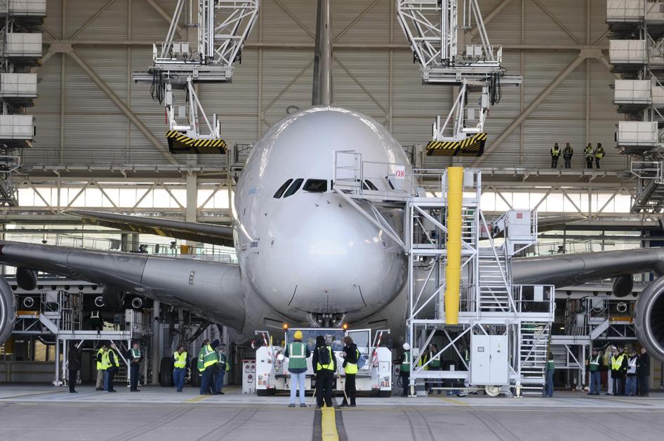Nouvel hangar A380 d'Air France à Paris-Charles de Gaulle